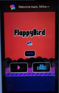 flappy bird night mode playing