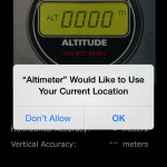 iphone digital altimeter
