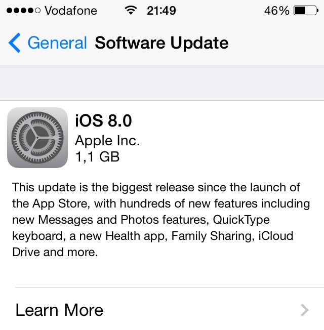 iOS 8 Installation Steps and Facts