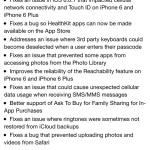 ios 8.0.2 fixes