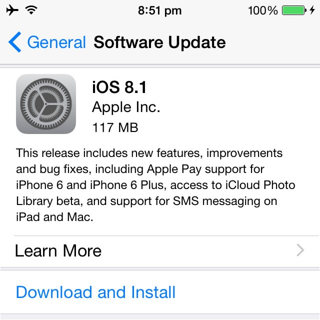 iOS 8.1 All Updates and Fixes