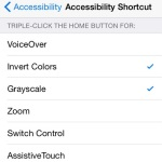 ios grayscale shortcut