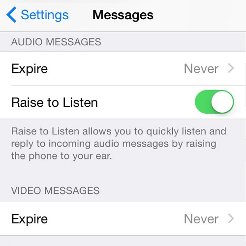 Raise to Listen and Send Audio iMessages
