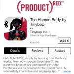RED app download from AIDS fund raising campaign