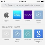 Safari favorites and frequently visited