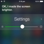 Siri adjusting brightness level