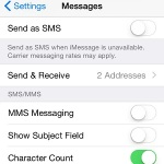 additional iMessage settings