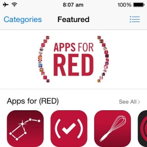 app store RED fund raising campaign
