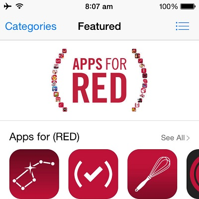 App Store Turns RED For An Impressive AIDS Fund Raising Campaign