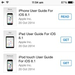 apple user guides for ios 8.1