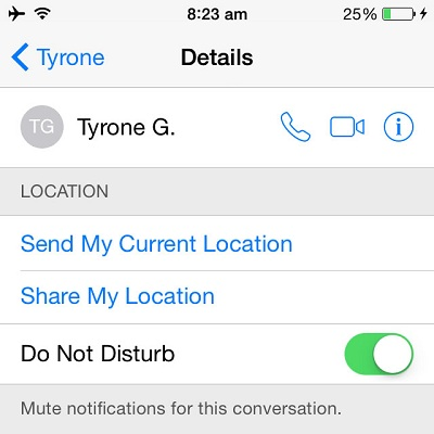 The iOS Mute Notifications For A Conversation Feature