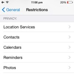 ios privacy restrictions