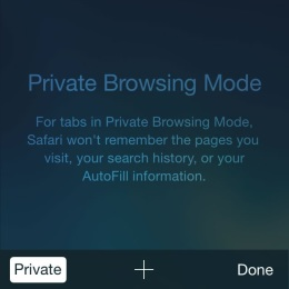 ios safari private web browsing mode