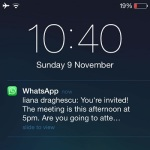 ios whatsapp lock screen message notification