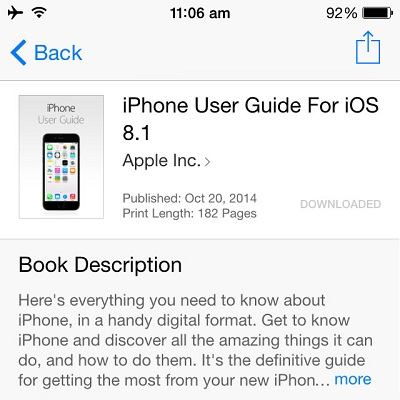 Download The iPhone and iOS 8.1 User Guide