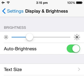 How do i turn off auto brightness on iphone 7 plus 7