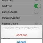 iphone bold accessibility feature