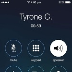 iphone call duration timer