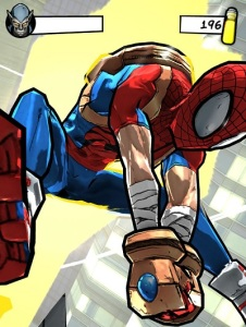 spider-man unlimited fighting scene