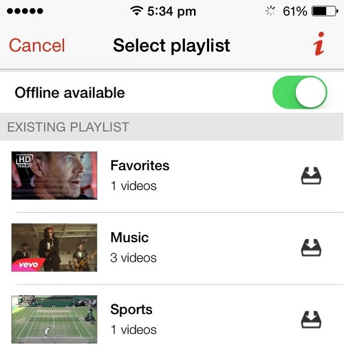 Watch Youtube Videos Offline On Your iPhone