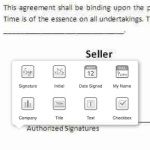 inserting electronic signature via docusign