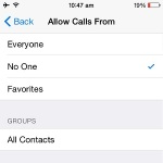 ios allow calls from setting