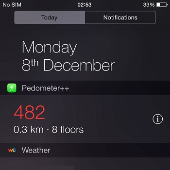 Pedometer++ An iPhone Step Counter With Widget