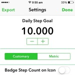 pedometer++ daily step goal setting