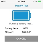 running iphone battery test