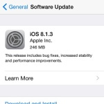 ios 8.1.3 software update notification