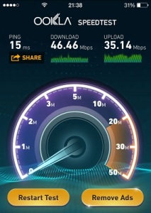 iphone 6 wifi speed test