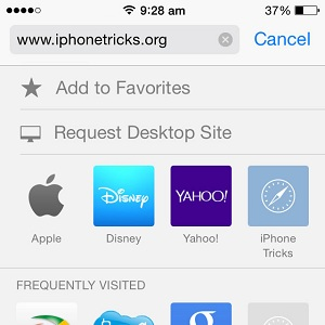 iOS Safari Request Desktop Site Trick