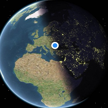 Apple Maps Shows Real-Time Earth Positioning