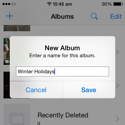 Learn How To Create A New Album in iOS Photos