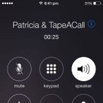 recording incoming iphone call