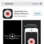 tapeacall app store