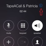 tapped outgoing iphone call