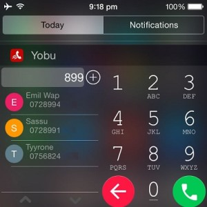 yobu android like iphone dialer