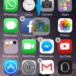 app dragged on packed home screen