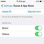 app store touch id settings
