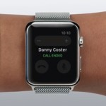 apple watch call ended screen