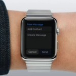 apple watch write message screen