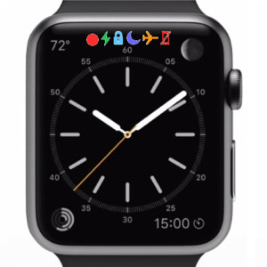 apple watch status bar indicators