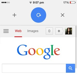 google chrome pull to reload, open or close tabs