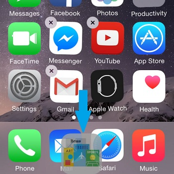how to move apps on iphone 5 screen