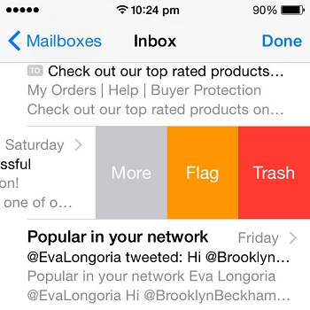 Enable The Swipe To Trash iOS Mail Gesture