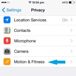 iphone motion and fitness setting