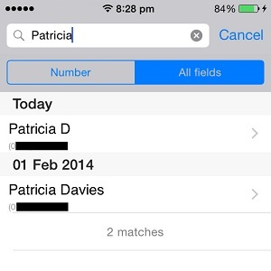 iPhone Contacts Creation Date Listing