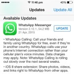 WhatsApp Messenger Gets iOS 8 Share Extensions