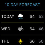 apple watch 10 day weather forecast
